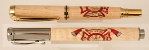 Fire and Rescue wood inlay pen
