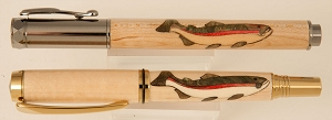 Fish wood inlay pen