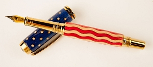 Stars & Stripes Flag Inlay Pen