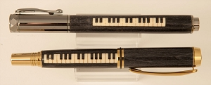 Piano Keyboard wood inlay pen