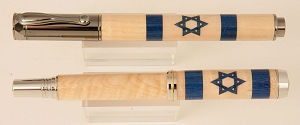 Star of David wood inlay pen